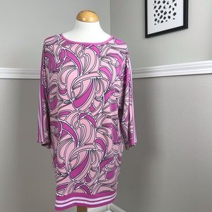 MICHAEL Michael Kors Pink Abstract Tunic Size L
